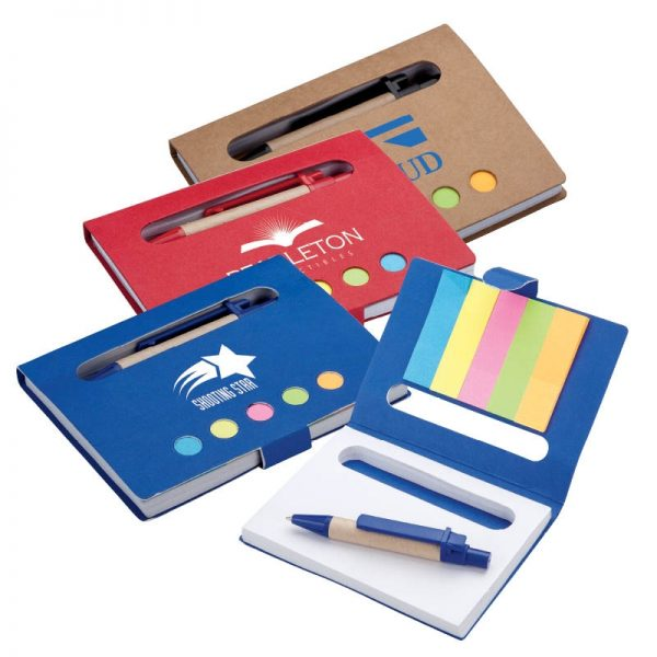 Mini Notebook with Pen & Flags