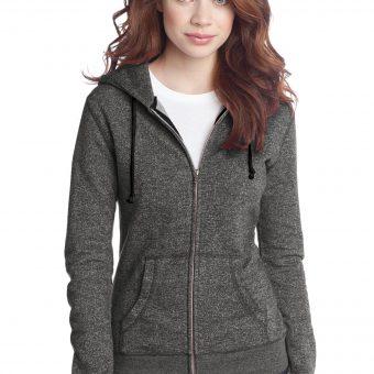 809a50962 Quick View · Sweatshirts/Fleece · District ® – Juniors Marled Fleece Full- Zip ...